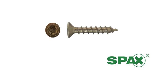 Spax spaanplaatschroeven 4x25 mm geelverzinkt platkop TORX 1000 stuks