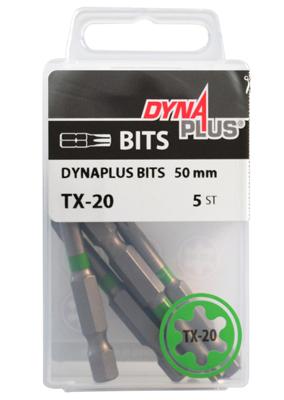 Dynaplus bit TORX-20 GROEN 50mm 5 stuks
