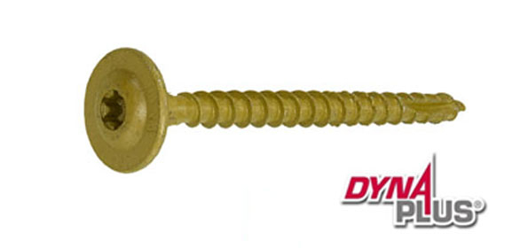 Dynaplus houtbouwschroef 8x60mm ar-coating bronze discuskop snijpunt torx 100 stuks