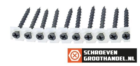 Bandschroeven voor gipsplaat 3,9x35 mm gefosfateerd met Hi-Lo draad phillips 1000 stuks