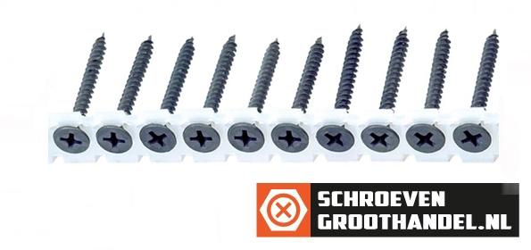 Bandschroeven voor gipsplaat 3,5x35 mm gefosfateerd fijn draad phillips 1000 stuks