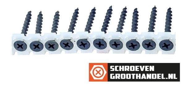 Bandschroeven voor gipsplaat 3,9x45 mm gefosfateerd grof draad phillips 1000 stuks