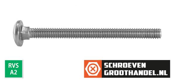Slotbouten M6 RVS A2 6x75 mm 100 stuks