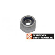 Borgmoeren M10 DIN985 thermisch verzinkt ISO passend 100 stuks