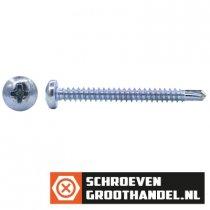 Boorschroeven verzinkt 6,3x63mm cilinderkop philips DIN 7504-N 200 stuks