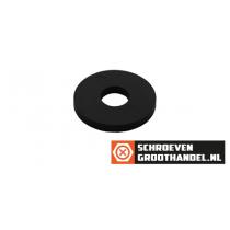 Carrosserieringen M5 nylon zwart DIN9021 200 stuks