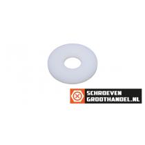 Carrosserieringen M6 nylon wit DIN9021 200 stuks