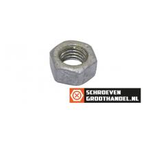 Zeskantmoeren M10 DIN934 thermisch verzinkt ISO passend 100 stuks