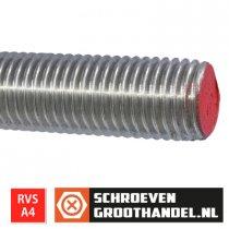 Draadeind M12 x 100mm RVS A4 DIN976 1 stuk