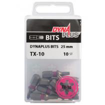 Dynaplus bit TORX-10 ROZE 25mm 10 stuks