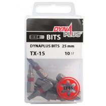 Dynaplus bit TORX-15 ROOD 25mm 10 stuks