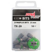 Dynaplus bit TORX-20 GROEN 25mm 10 stuks
