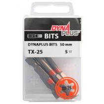 Dynaplus bit TORX-25 ORANJE 50mm 5 stuks