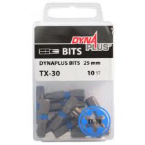 Dynaplus bit TORX-30 BLAUW 25mm 10 stuks