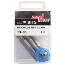 Dynaplus bit TORX-30 BLAUW 50mm 5 stuks