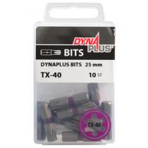 Dynaplus bit TORX-40 PAARS 25mm 10 stuks