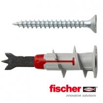 Fischer DuoBlade gipsplaatpluggen 44mm met schroeven 4,5x40mm 6 stuks