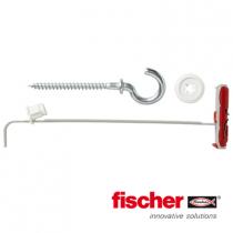 Fischer DuoTec hollewandpluggen 10 met ronde haken 5,0x84mm 2 stuks