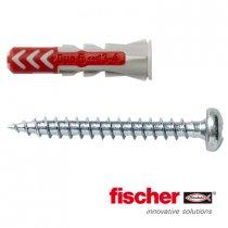 Fischer Duopower pluggen 5x25mm met bolkopschroeven 3,5x35mm 50 stuks