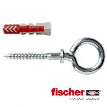 Fischer Duopower pluggen 6x30mm met ooghaken 4,5x63mm 4 stuks