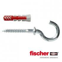 Fischer Duopower pluggen 6x30mm met ronde haken 4,5x62mm 6 stuks
