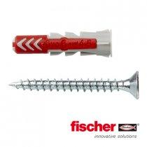 Fischer Duopower pluggen 6x30mm met schroeven 4,5x40 12 stuks