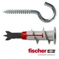 Fischer DuoBlade gipsplaatpluggen 44mm met ronde haken 4,5x40mm 10 stuks