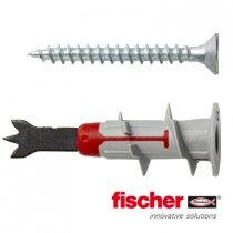 Fischer DuoBlade gipsplaatpluggen 44mm met schroeven 25 stuks