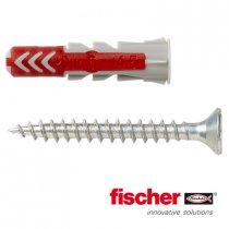 Fischer Duopower pluggen 6x30mm met schroeven 4,5x40mm 50 stuks