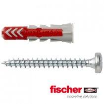Fischer Duopower pluggen 6x30mm met bolkopschroeven 4,5x40 12 stuks