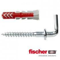 Fischer Duopower pluggen 6x30mm met winkelhaken 4,5x47mm 6 stuks