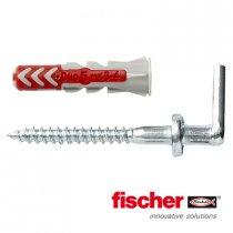 Fischer Duopower pluggen 5x25mm met winkelhaken 4,0x40mm 8 stuks