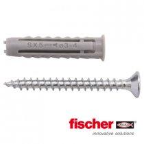 Fischer pluggen SX 5 met schroeven 3,5x35mm 20 stuks