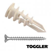 Toggler Gipsplaat Pluggen + Schroeven SP 6 stuks