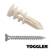 Toggler Gipsplaat Pluggen + Schroeven SPM 6 stuks