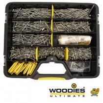 Woodies Ultimate schroeven TORX Assortimentskoffer platkop RVS incl. Bitjes