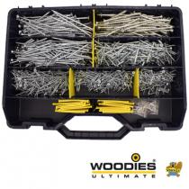 Woodies Ultimate schroeven TORX Assortimentskoffer verzinkt incl. Bitjes